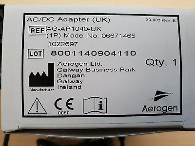 AEROGEN AC/DC ADAPTER FW7660M/09 9V 1A.Fedex shipping next day service available