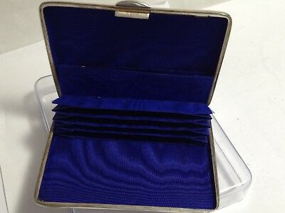 Stunning And Rare Solid Silver Card Case George Unite 1900 Chester