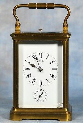 Antique French Hour Repeater & Alarm Carriage Clock 19th Century