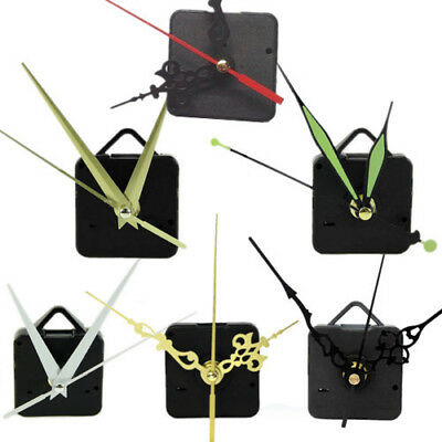 Quartz Clock Movement Motor Mechanism Kit Battery Powered Black/gold/white Hands