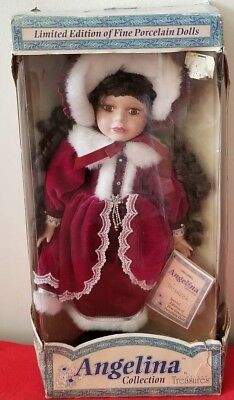 """Timeless Treasures Doll Angelina Collection Limited Special Edition Coa 16"""""""
