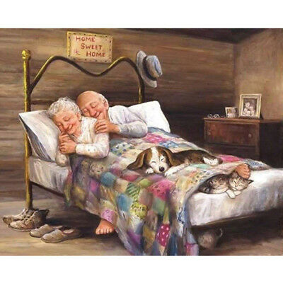 Old Man & Women Full Drill 5D Diamond Embroidery Painting Cross Stitch Kit