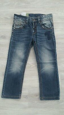 UNITED COLORS OF BENETTON Boy Blue Jeans Trousers Size 3 4 years XXS NWT STRETCH