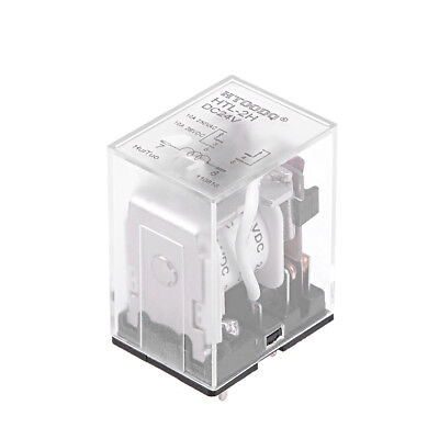 DC24V Coil 6Pin DPDT Clear Plastic Case Power Relay  HTL-2H  5pcs