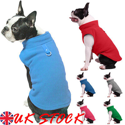 UK Pet Clothes SWEATER Chihuahua Yorkie Small Dog Coat Jacket Fleece Soft Warm