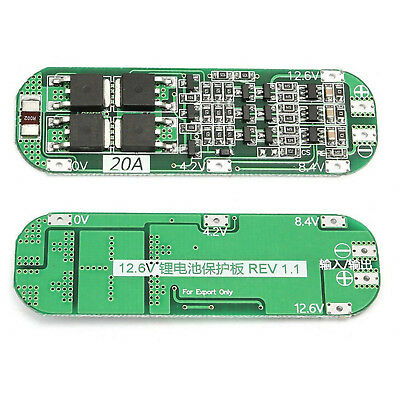 3S 20A 12.6V Li-ion Lithium Batterie 18650 Charger PCB BMS Protection Board AHS