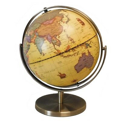 Antique Style World Globe 228mm New (GL-TU228)