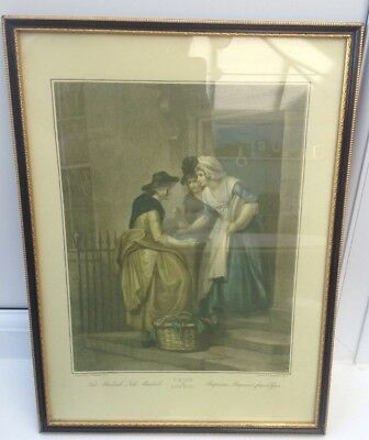 'Hogarth' Framed Tinted Etching/print of Cries Of London... Mackerel