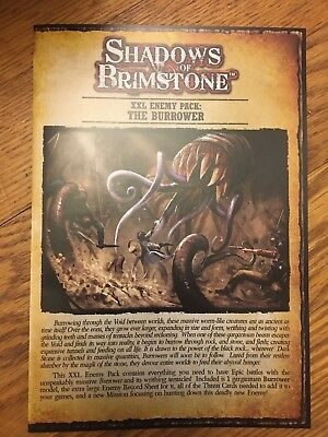 Shadows of Brimstone FFP07E13 The Burrower XXL-Sized Enemy Pack Void Worm Chaos