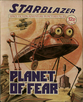 Planet Of Fear,starblazer Space Fiction Adventure In Pictures,no.8,1979