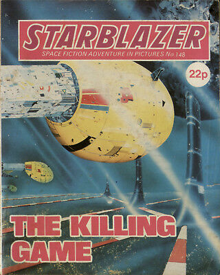 The Killing Game,starblazer Space Fiction Adventure In Pictures,no.148,1985