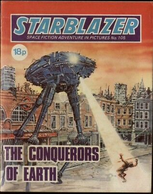 The Conquerors Of Earth,starblazer Space Fiction Adventure In Pictures,no.105