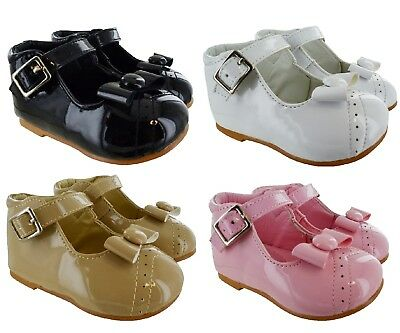 Kids Patent Wedding Party Spanish Girls Baby Toddler Fancy Comfort Smart Shoes