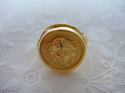 TAGLIAMONTE Designs (784,785,786) 925SS/YGP Cameo Ring*Medusa*Sizes 6,7,8*