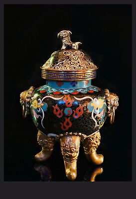 China 20. Jh  Qing - A Chinese Cloisonne Enamel Koro / Censer - Cinese, Chinois