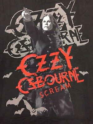 "(2) New Ozzy Osbourne ""SCREAM"" 2010 Rock Tour Concert Tee Shirts Size XL Hanes"
