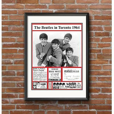 The Beatles in Toronto 1964 Poster - Beatlemania