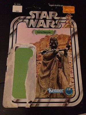 Vintage Star Wars Kenner Action Figure Card Back Sand People Rare!