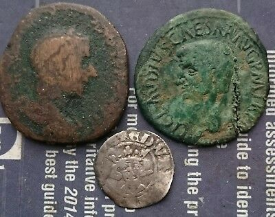 Roman sestertius and others