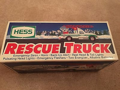 Vintage Rare1994 HESS TOY RESCUE TRUCK - NEW IN BOX w/ OLD  GAS COUPON & RECEIPT
