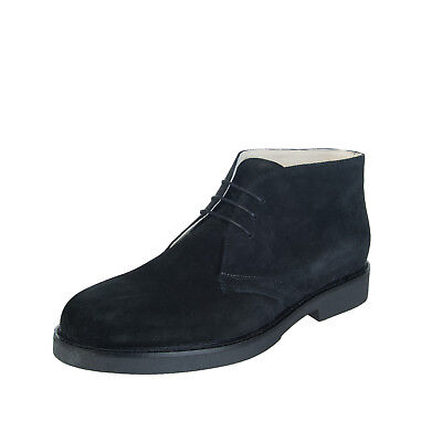 Suede Leather Chukka Boots Size 44 UK 10 Treated Laced HANDMADE in Italy