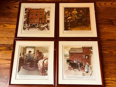 Norman Rockwell Prints - Ford Motor Company Advertising Print 1950's