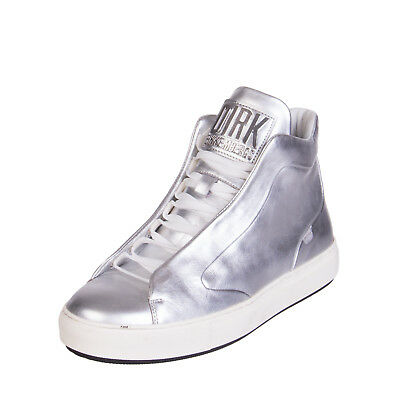 DIRK BIKKEMBERGS Leather High Top Sneakers Size 42 UK 8 Made in Italy RRP €475