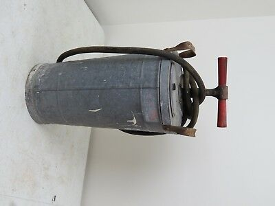 Vintage Large Galvanized Steel Pump Sprayer, bug, yard