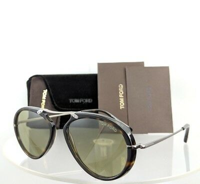 Brand New Authentic Tom Ford Sunglasses FT TF 0473 TF 473 Aaron Tortoise Frame