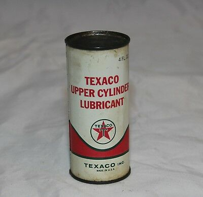 Vintage Texaco Upper Cylinder Lubricant 4 ounce Full Can