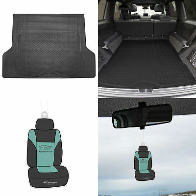 Black Trunk Cargo Mat Liner For Car SUV Van Rubber All Weather w/ Gift