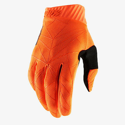 2019 100% Ridefit Motocross Mx Mtb Bike Gloves - Fluo Orange / Black