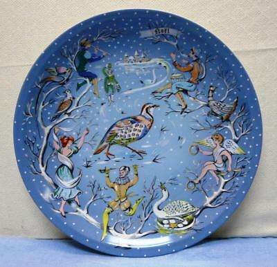 """The Twelve Days of Christmas Haviland Limoges 12 1/2"""" Jubilee Plate exc cond"""
