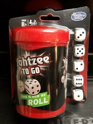 *** Yahtzee to Go Travel Game by Hasbro Gaming With 100 Score Cards ***