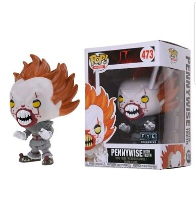 It/ Funko Pop Pennywise With Teeth  #473- Vinyl Figure Fye Exclusive In Box