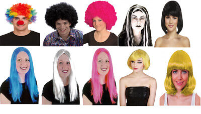 70s Unisex Afro Curly Wig Fancy Clown Disco Funny Funky Colour Wigs Dress Party