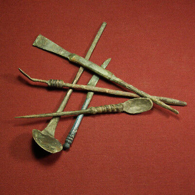 Lot of 5 Roman medical tool