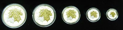 Canada 2014 Sugar Maple Leaves - Fine Silver Maple Leaf Fractional Set
