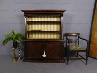 A GOOD MID 19thC ANTIQUE MAHOGANY PETITE LIBRARY BOOKCASE ON CUPBOARD