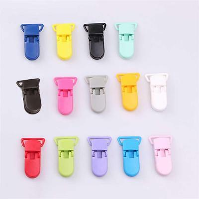 10Pcs Baby Plastic Alligator Clip Soother Pacifier Holder Dummy Clips Hook