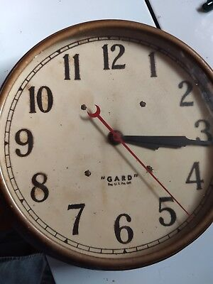 Vintage Guard Electric schoolhouse/office wall clock!