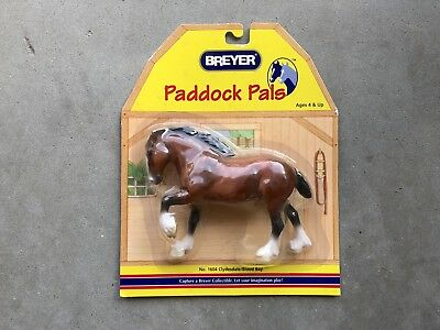 New NIP Breyer Horse Paddock Pal #1604 Clydesdale Draft Shire Bay Retired