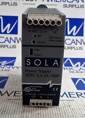 SOLA Hevi Duty SDN 2.5-24-100P  24 VDC Power Supply