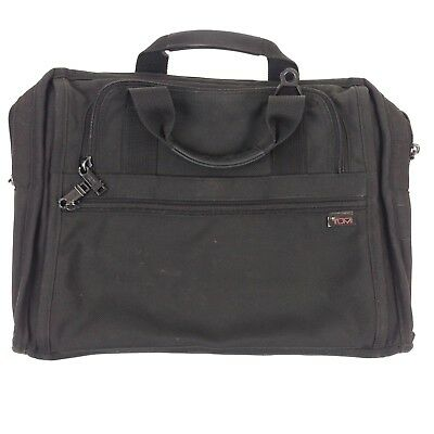 348ad841ab BLACK TUMI BALLISTIC Nylon & Leather Macbook Pro Laptop Attache ...