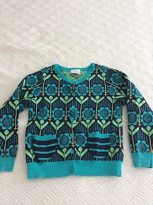 Hanna Andersson Girls Cotton Knit Cardigan Sweater 130
