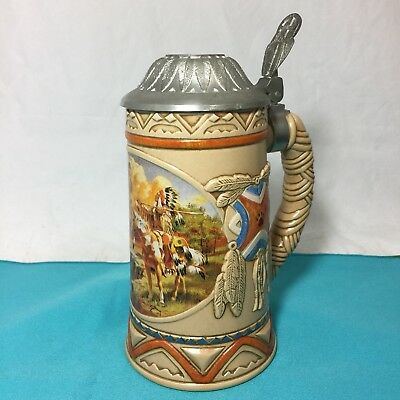 """Longton Crown America Lidded Beer Stein """"Spirit Dreams"""" Limited Edition #A0415"""