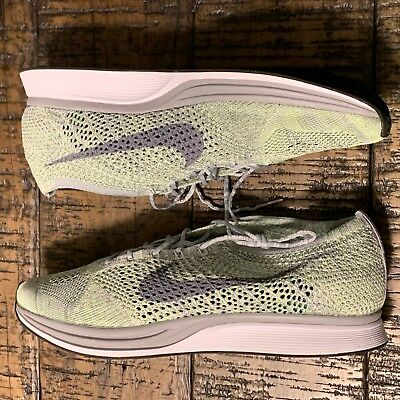 6cb6038cfe8d Nike Flyknit Racer Men s Running Shoes Ghost Green 526628-103 Size 13  NOBOXTOP