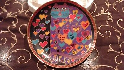 "Franklin Mint Laurel Burch ""Queen of Hearts"" Cat Plate with COA.  HA 1952"