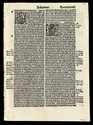 THe Gosple of John 2-4 THe Wedding at Cana New Testament 1519 Bible Leaf