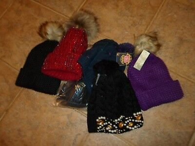 6 Pom Pom Hats Clearance End Of Lines  Hats And Sizes Over £100 Retail Price